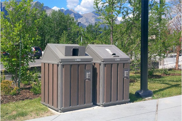 Discovery co-containment of waste and recyclables